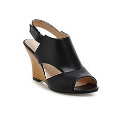 b155a179a Wedge Heel Peep Toe Buckle Straps Cut Out Womens Sandals    You can find  out. Women s Shoes ...