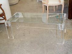 Modern Lucite Coffee Table