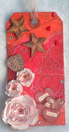 Valentine's Day tag! Check out my blog for project details! scrapbookscraftscards.blogspot.com
