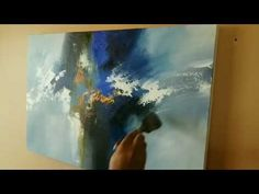 Abstract painting / Acrylic abstract painting using palette knife and brush / Demo - YouTube