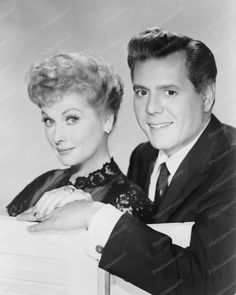 Desi Arnaz & Lucille Ball Pose 1950s 8x10 Reprint Of Old Photo
