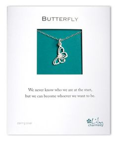 Look at this #zulilyfind! Sterling Silver Butterfly Pendant Necklace #zulilyfinds