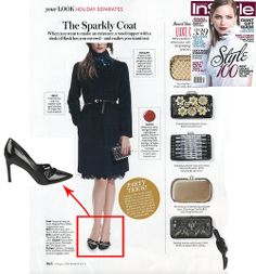 #ViaSpiga Irving #pointedtoe #pumps in the December issue of @InStyle Magazine