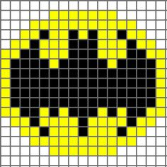 Free Batman Logo Cross Stitch Chart or Hama Perler Bead Pattern