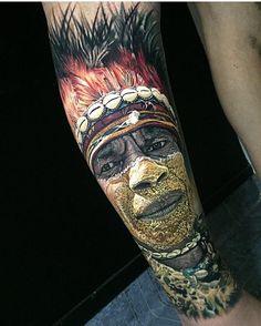 Realistic tattoo by Steve Butcher