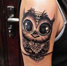 significado de animales en tatuajes buho