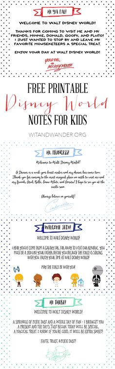 Free Printable Notes from Disney Characters Tinker Bell Gift Tags - Wit & Wander Voyage Disney World, Disney World 2017, Disney World Planning, Disney World Vacation, Disney Vacations, Orlando Vacation, Disney World Tips And Tricks, Disney Tips, Disney Love