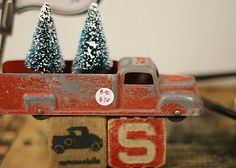 trees in a truck.very sweet...
