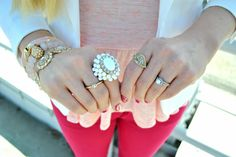Layered Jewels + Skinny Jeans