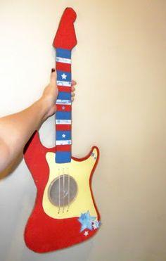 Cardboard Guitar that plays music -- cute