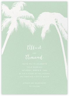 Tropical Palm - Mint - Paperless Post