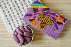 """Autumn is here - so the Japanese candy manufacturers are bringing out their autumn flavours. One typical flavour that gets used a lot is """"purple potato"""" - or Murasaki Imo. If you've ever wanted to eat a purple potato chocolate, this is the one! Actually, it really does taste very good."""