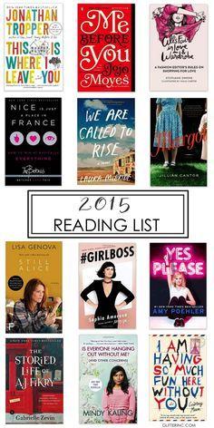 2015 Summer Reading List #Books