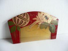 Vintage kushi-kanzashi ornamental comb by WhatsForPudding