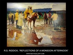 """Western Art by RS Riddick, """"Reflections of a Monsoon Afternoon"""""""