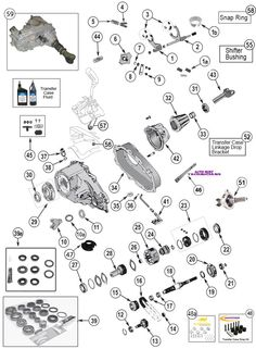 np 231 transfer case parts for wrangler tj, yj, cherokee xj, grand cherokee  zj, wj & liberty kj