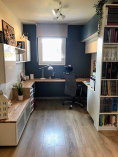 Bureau design aménagement Ikea #design #bureau #besta #decoration #diy #deco #ikea #bois #espace #office