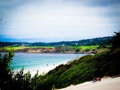 Carmel beach, looking at Pebble Beach Golf Course
