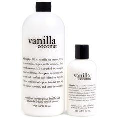 philosophy 'vanilla coconut' shampoo, shower gel & bubble bath duo ($32) ❤ liked on Polyvore