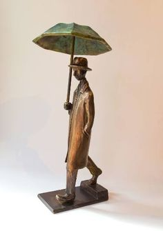 "Saatchi Art Artist Uri Dushy; Sculpture, ""Walking in the Rain 02"" #art"