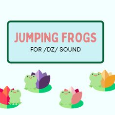 Boom Cards - Jumping frogs:/dz/ sound J Sound, Jumping Frog, Syllable, Blue Jay, Speech Therapy, Frogs, Special Education, Giraffe, Positivity