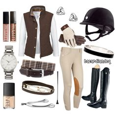 """Baker Brown"" by bacardiandeq on Polyvore Aunt Poo @beytebiere , here is something more traditional we would both approve of."