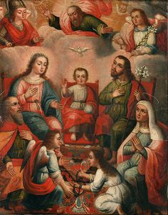 File:Anonymous Cusco School - The family of Christ Child with the imprisoned soul of Divine Love - Google Art Project.jpg