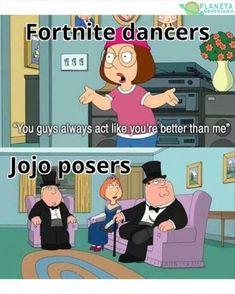 Jojo poses ARE superior to Fortnite dances. Jojo's Bizarre Adventure Anime, Jojo Bizzare Adventure, Stupid Funny Memes, Hilarious, Dance Memes, Jojo Anime, Jojo Parts, Jojo Memes, Lol