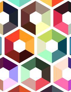 Design by NY illustrator Kelly Chilton geometric
