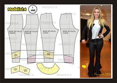 Modelagem da calça da Fernanda do BBB. Fonte: https://www.facebook.com/photo.php?fbid=563206110381965=a.426468314055746.87238.422942631074981=1