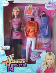 Hannah Montana Fashion Doll with 3 Real Outfits From Hannah's Wardrobe! Disney http://www.amazon.com/dp/B0042NSBP2/ref=cm_sw_r_pi_dp_3mfHub070WZE6
