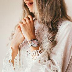 The Julie Julsen Flower Silver Mesh Tree Of Life Bracelet, Spring Looks, Wood Watch, Mesh, Watches, Hair Styles, Flowers, Accessories, Beauty