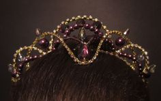 headpiece beaded amethyst - Google Search