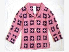 GIRL'S CHARABIA FRANCE EURO BOUTIQUE SO PRETTY! SPRING CROCHET CARDIGAN JACKET 6