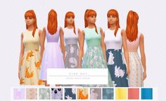 Dine Out Dress Recolors by Asimsfetish at SimsWorkshop via Sims 4 Updates