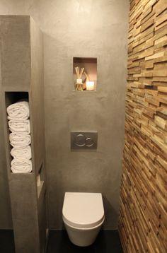 storage - towels & tp space next to toilet Bathroom Design Software, Interior Design Software, Bathroom Interior Design, Modern Bathroom, Small Bathroom, Master Bathroom, Bathroom Wall, Small Toilet Room, Ideas Baños
