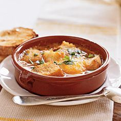 Garlic Soup (Sopa de Ajo) - You can serve this with a slice of tomato, garlic toast and a green salad for a light lunch.