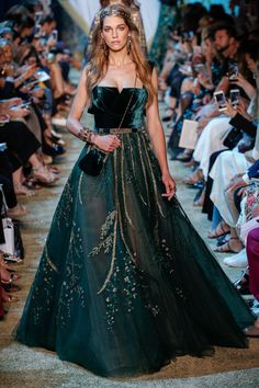 Elie Saab Fall 2017 Couture Fashion Show - Samantha Gradoville (IMG)