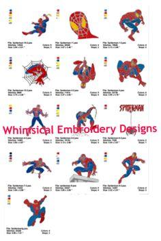 Spiderman Filled Designs