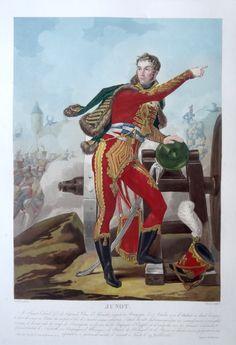 Jean-Andoche Junot, Duc d'Abrantès (né le 25 octobre 1771 à Bussy-le-Grand - mort à Montbard le 29 juillet 1813) - Général de division - gravé par Charon d'après Martinet et publié chez Jean - MAS Estampes Anciennes - Antique Prints