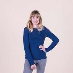 The Josefine blouse has a beautiful yoke with the prettiest design. The blouse has long sleeves and is the perfect addition to your summer wardrobe. Crochet Hook Sizes, Knit Or Crochet, Blouse Patterns, Sweater Patterns, Light Scarves, Quick Knits, Wrap Cardigan, Beautiful Blouses, Baby Sweaters