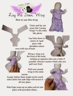 Lay Me Down Wrap for babies from 14 weeks through 30 weeks. Gown allows for dressing of baby with minimal moving of the dhild to protect fragile skin.