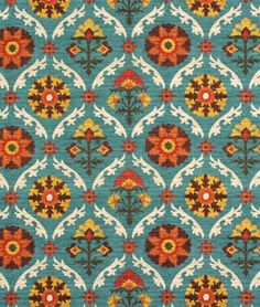 Shop Waverly Mayan Medallion Adobe Fabric at onlinefabricstore.net for $19.55/ Yard. Best Price & Service.