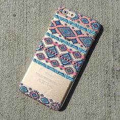 Henna Colored Aztec 2 - Clear TPU Case Cover
