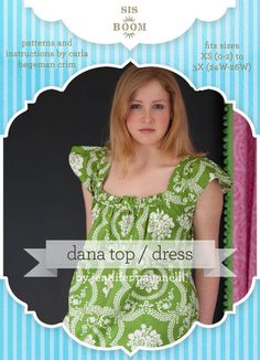 Dana Top / Dress PDF Pattern for Women | Sis Boom