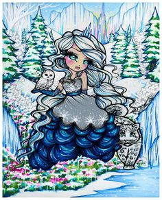 Ice Princess 2014 | Hannah Lynn Art | Giftware Design Licensing Portfolio - Hannah Lynn Art & Design