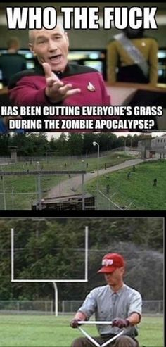 The Walking Dead Memes that live on after the characters and season ended. Memes are the REAL zombies of the show. Memes The Walking Dead, The Walking Dead Saison, Walking Dead Season, Walking Dead Zombies, People With Ocd, Normal People, People People, No Kidding, Chandler Riggs