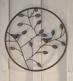 Birds and Branches Circle Wall Art * You can find more details by visiting the image link.-It is an affiliate link to Amazon. #WallSculptures