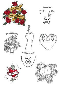 Temporäre Tattoos - # Tätowierungen to make temporary tattoo crafts ink tattoo tattoo diy tattoo stickers Flash Art Tattoos, Body Art Tattoos, Sleeve Tattoos, Kritzelei Tattoo, Doodle Tattoo, Finger Tattoos, Cute Tattoos, Small Tattoos, Tattoo Studio