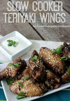 Slow cooker Teriyaki wings